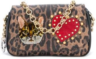 Dolce & Gabbana patched leopard print clutch
