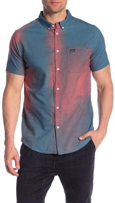 RVCA That'll Do Patterned Short Sleeve Slim Fit Shirt