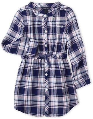 Nautica Toddler Girls) Plaid Shirtdress