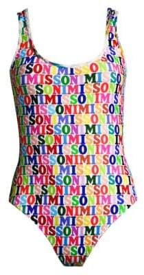 Missoni Mare Logo One-Piece Swimsuit