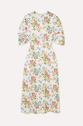 Emilia Wickstead Floral-print Crepe Midi Dress - Pink