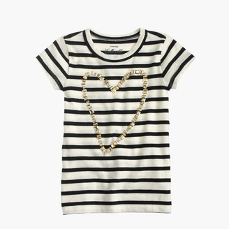 Girls' gold heart striped T-shirt $45 thestylecure.com