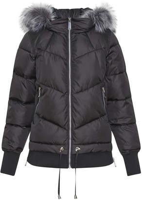 Sam Edelman Puffer Coat with Faux Fur Hood