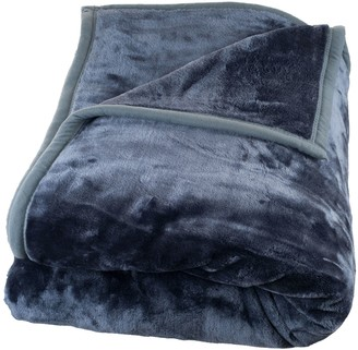 Kohl's Portsmouth Home Solid Plush Faux-Mink Blanket - Twin