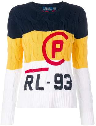 Polo Ralph Lauren contrast panel logo jumper