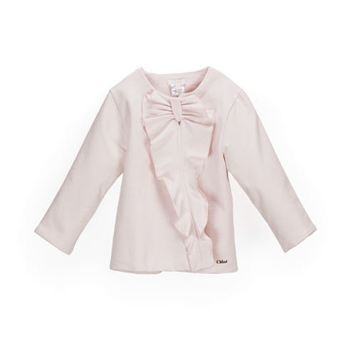 Chloé Baby Girl's Long Sleeve Sweater With Bow - Light Pink