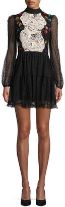 MACKINTOSH Millie Mesh Flare Dress