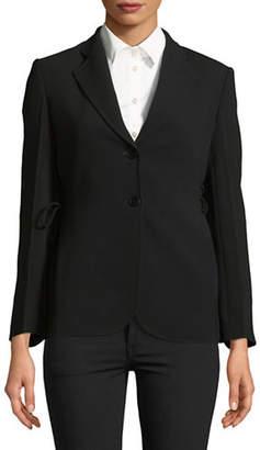 Theory Lace-Up Long Sleeve Jacket