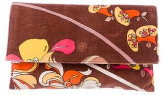 Emilio Pucci Abstract Print Velvet Clutch