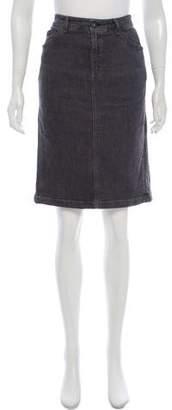 Max Mara Weekend Denim Knee-Length Skirt