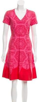 Jonathan Saunders Silk-Blend Knee-Length Dress