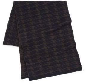 Portolano Houndstooth Wool Scarf