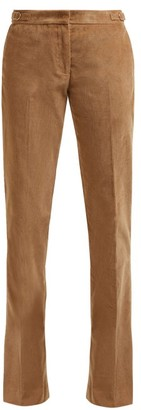 Gabriela Hearst Briggs Micro Corduroy Wool Blend Trousers - Womens - Camel