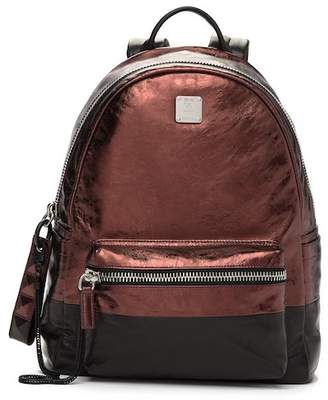 MCM Tumbler Colorblock Leather Backpack