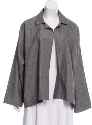 eskandar Linen-Wool Open Front Jacket