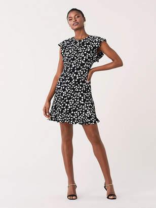 Diane von Furstenberg Krona Ruffled Crepe Mini Dress