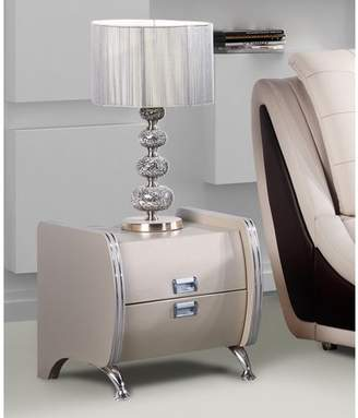 US Pride Furniture Olivia Brown Contemporary Nightstand