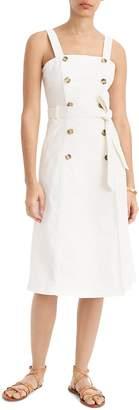 J.Crew Button Front Denim Trench Dress