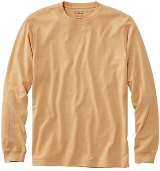 L.L. Bean L.L.Bean Men's Lakewashed Garment-Dyed Cotton Crewneck Tee, Slightly Fitted Long-Sleeve