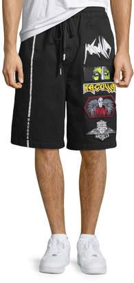 Neiman Marcus Haculla Men's Patched Cotton Shorts