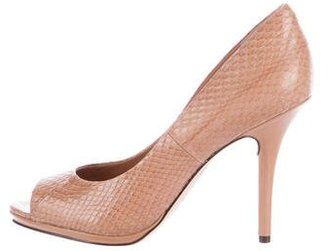Rachel Roy Peep-Toe Embossed Pumps $85 thestylecure.com
