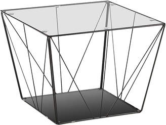 Linea Furniture Cara Glass & Metal Coffee Table