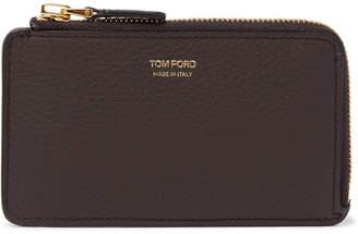 Tom Ford Full-Grain Leather Zipped Cardholder