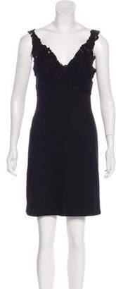 Ermanno Scervino Lace-Trimmed Mini Dress