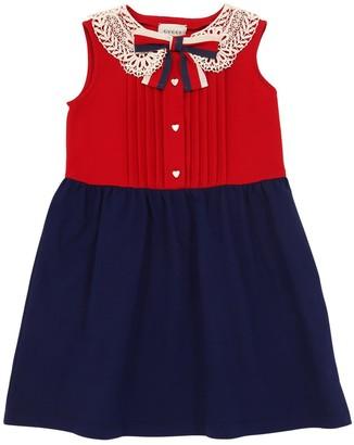 Gucci COTTON BLEND DRESS W/ LACE COLLAR