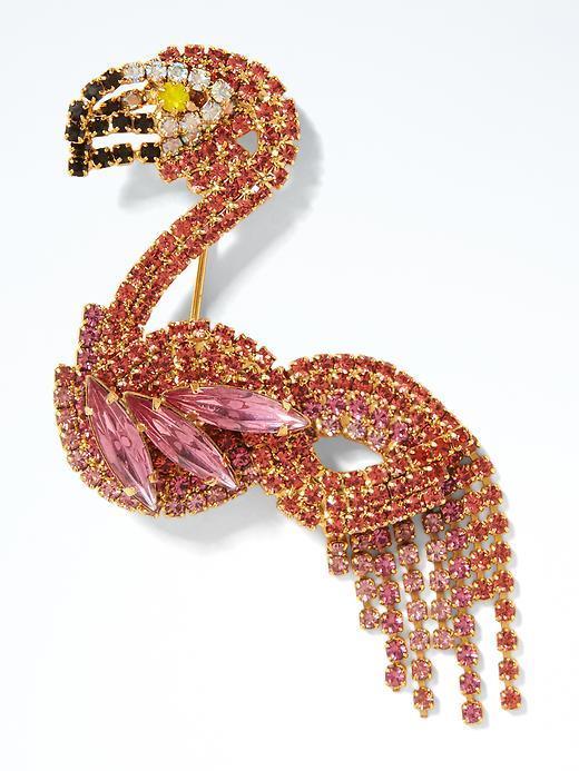 Banana Republic Elizabeth Cole Flamingo Brooch