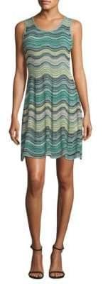 M Missoni Wave Ripple Knit A-Line Dress