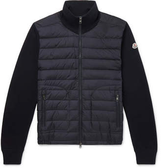 Moncler Panelled Jersey And Quilted Shell Down Jacket
