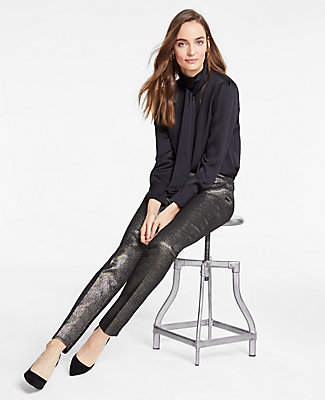 Ann Taylor The Tall Ankle Pant In Golden Shimmer
