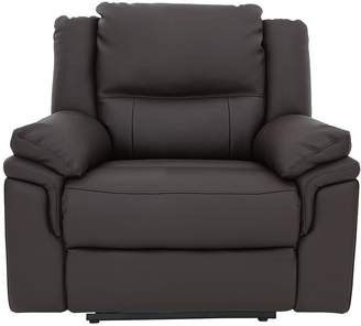 Albion Luxury Faux Leather Manual Recliner Armchair