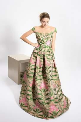 at Shoptiques · Reem Acra Emerald Flower Dress edcd396ba