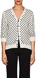 Marc Jacobs Women's Polka Dot Wool Cardigan-Ivory