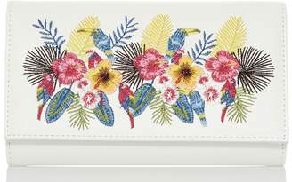 Quiz White Floral Embroidered Bag
