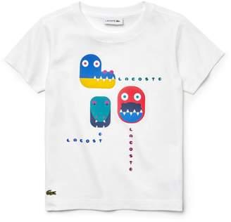 Lacoste Boys' Crew Neck Crocodile Print Cotton Jersey T-shirt