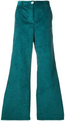 Masscob corduroy flared trousers
