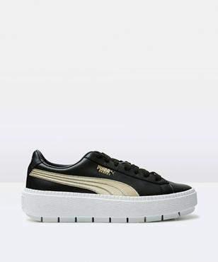 Puma Platform Trace Varsity W Black Gold