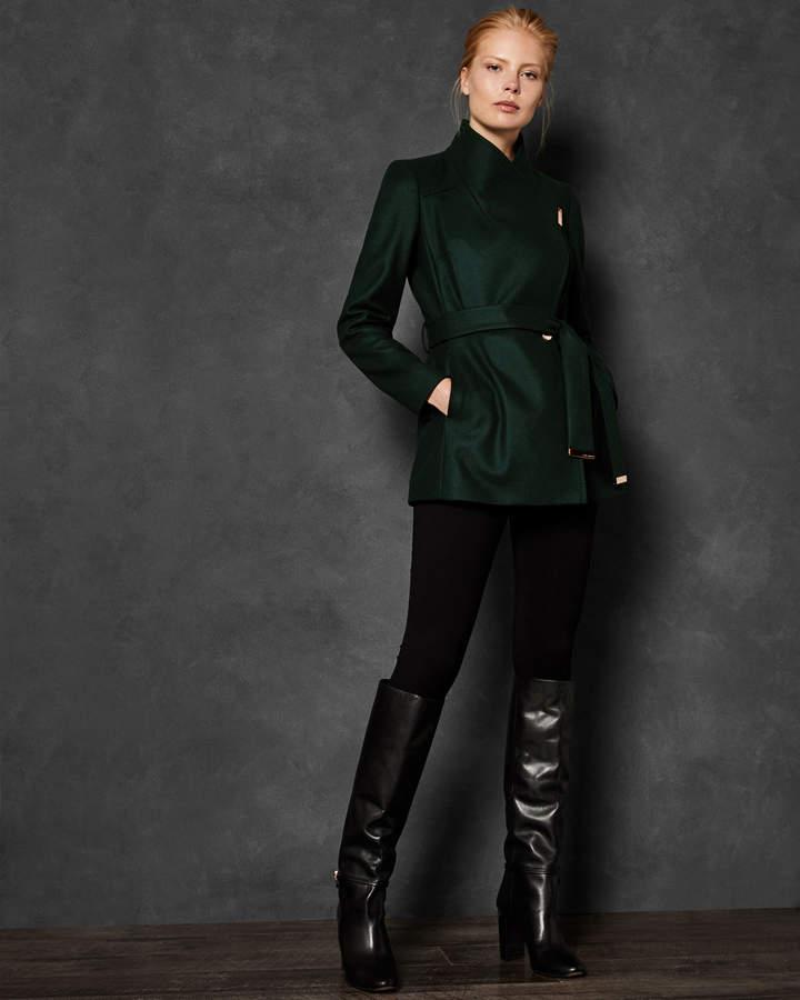 RYTAA Short wool wrap coat