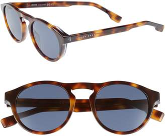 BOSS 50mm Polarized Round Sunglasses
