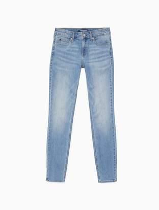 Calvin Klein skinny mid rise malibu light blue jeans
