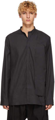 Isabel Benenato Black Layered Shirt