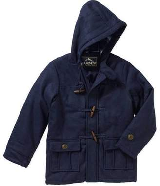 Climate Concepts Faux Wool Hooded Toggle Coat (Little Boys & Big Boys)