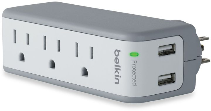 Belkin 3-Outlet Mini Surge Protector with 2.1-Ampere USB Ports
