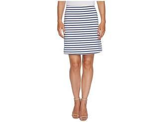 Three Dots Breton Stripe Mini Skirt Women's Skirt