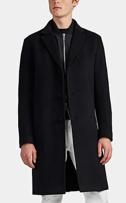 Officine Generale Men's Wool-Cashmere Felt Topcoat - Black