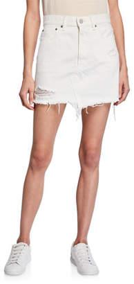 Moussy VINTAGE Ripliy Frayed Denim Mini Skirt