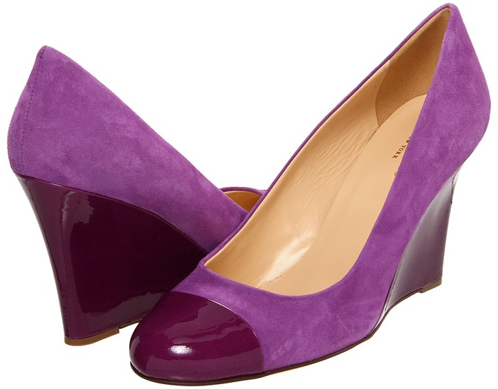 Kate Spade Kimmy (African Violet Suede/New Purple Patent) - Footwear